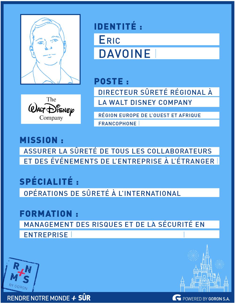 Portrait de décideur : Eric Davoine, Directeur régional Sûreté Walt Disney Company - RNMPS