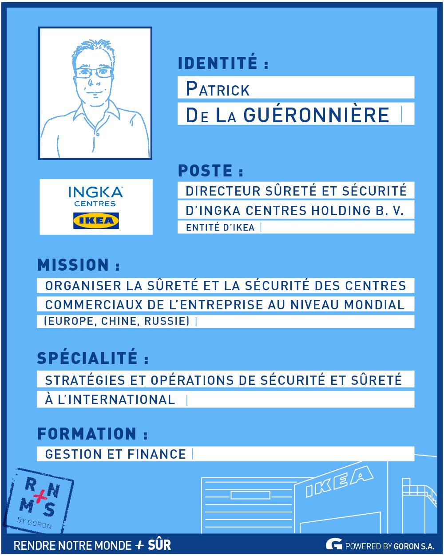 Portrait de décideur : Patrick de La Guéronnière, Directeur Sûreté et Sécurité de Ingka Centres Holding B. V., entité IKEA – RNMPS
