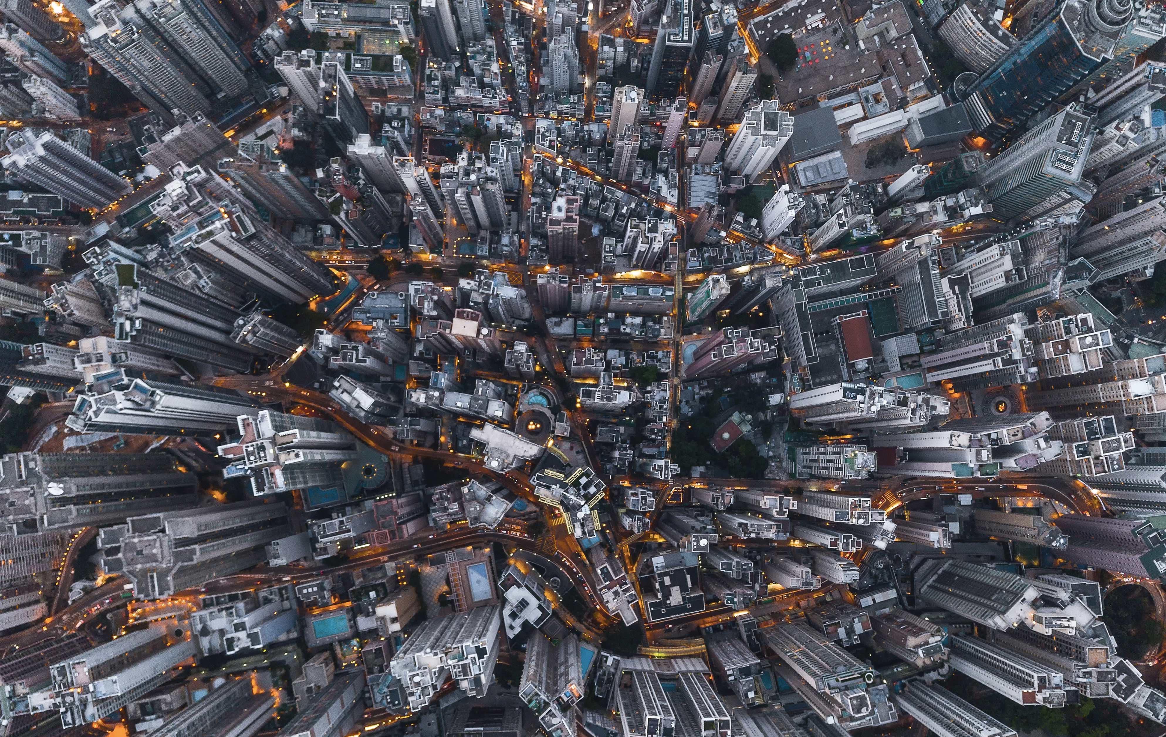 gratte-ciels d'une grande métropole internationale