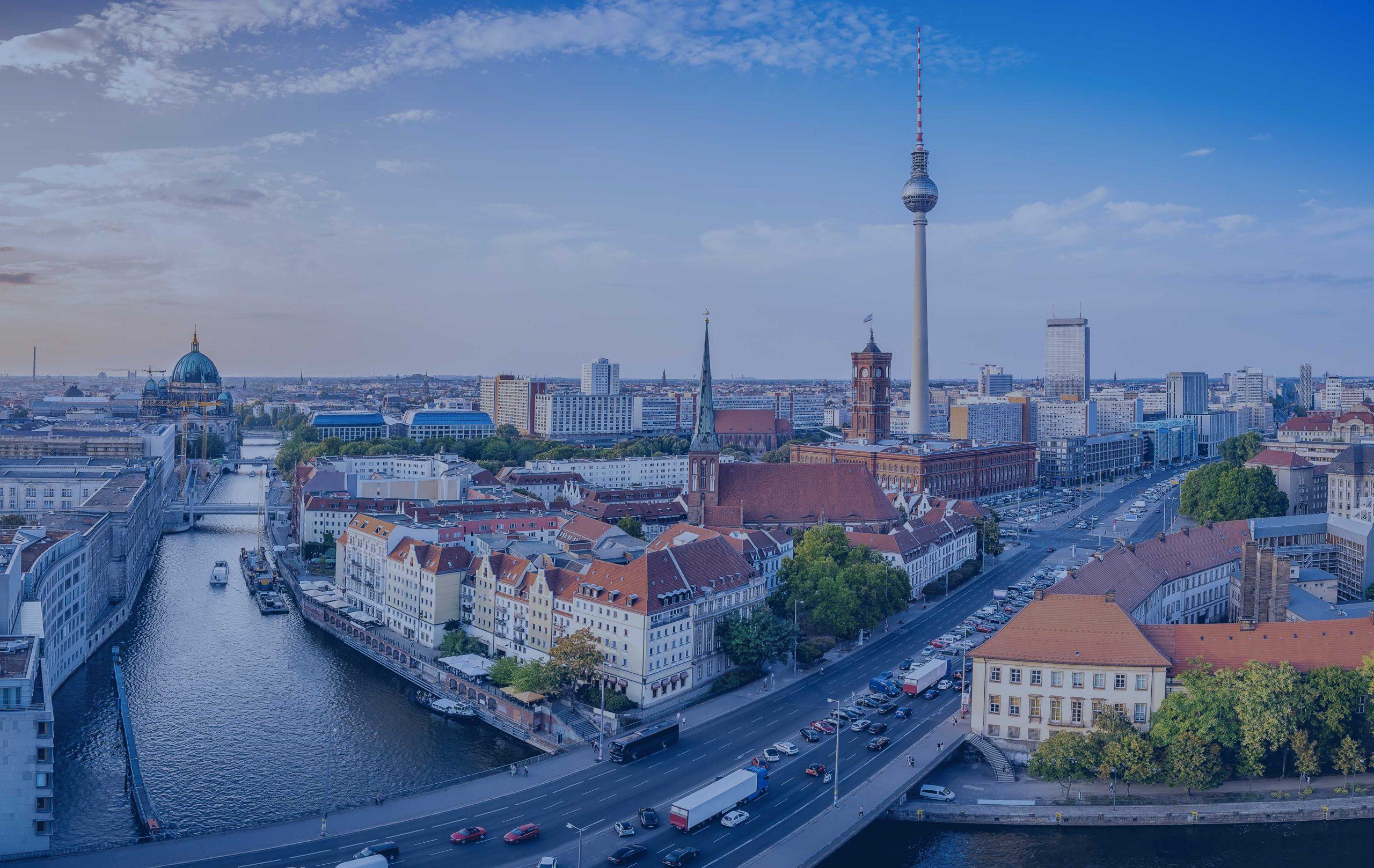Vue aérienne de Berlin