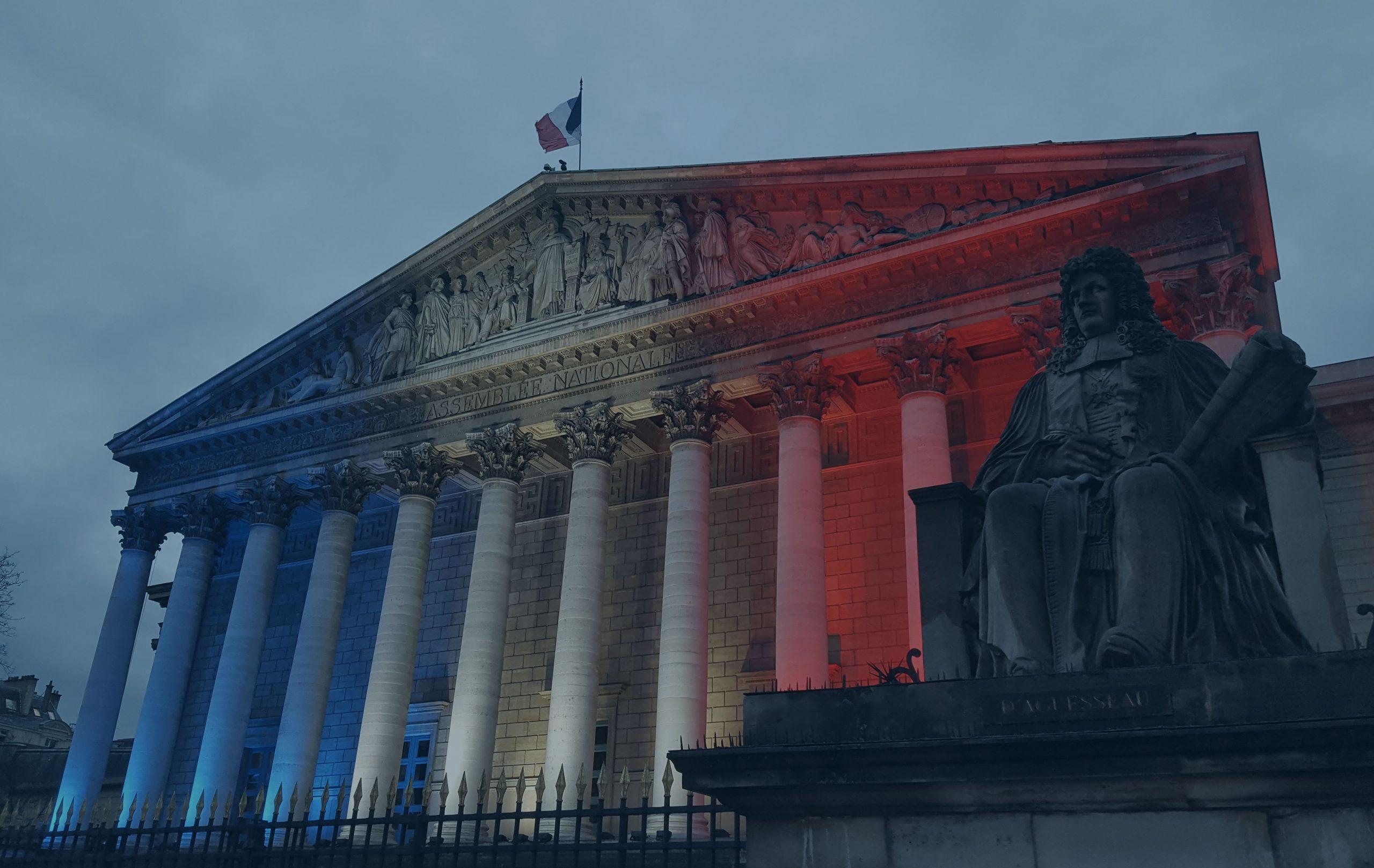 vue de la façade de l'assemblée nationale