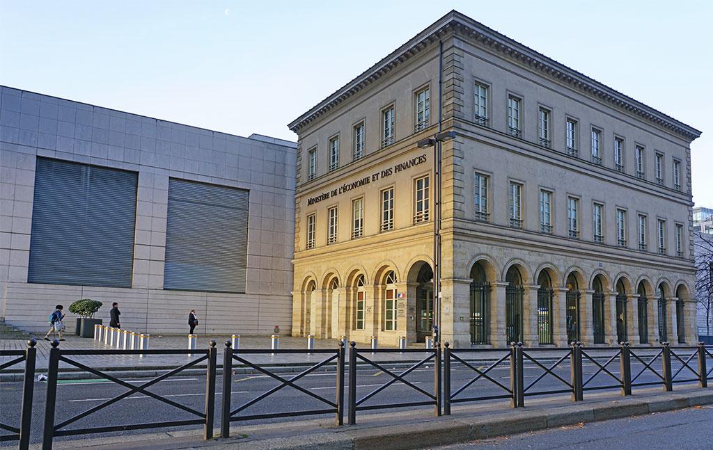 vue du ministere de l'economie à Paris, France