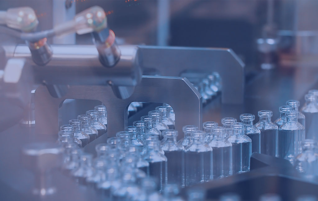 flacons de verre en laboratoire