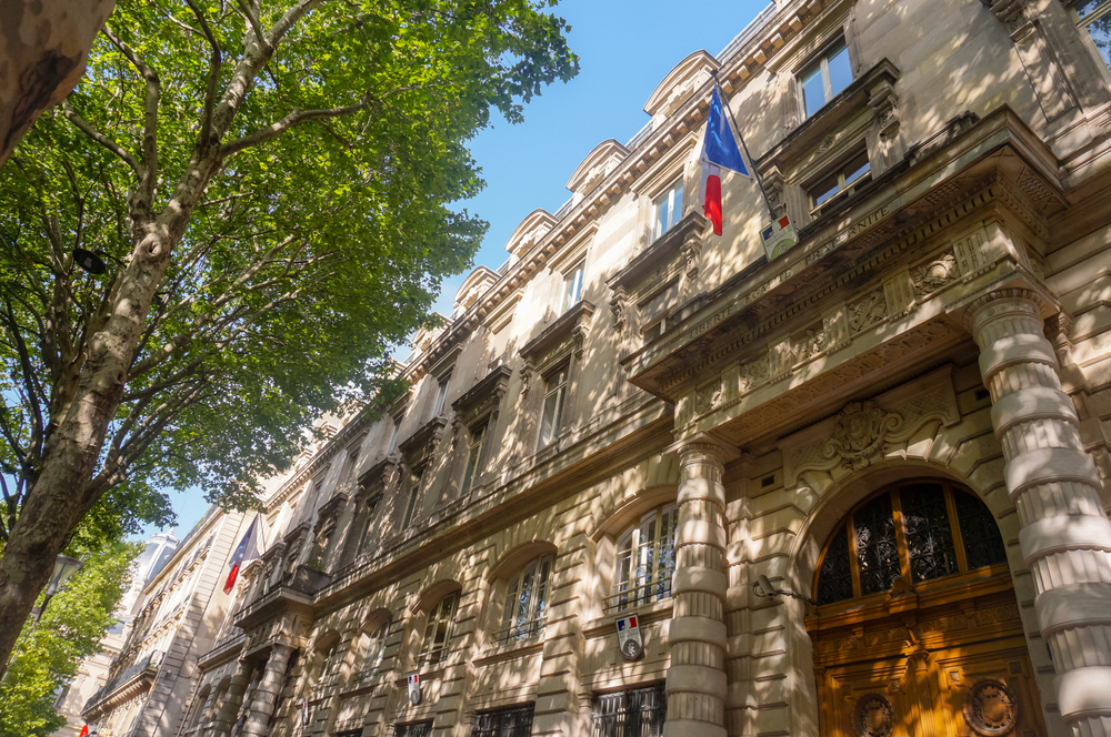 vue de la préfecture de police de paris