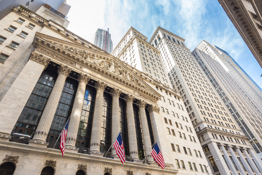 La bourse de New York aux Etats Unis