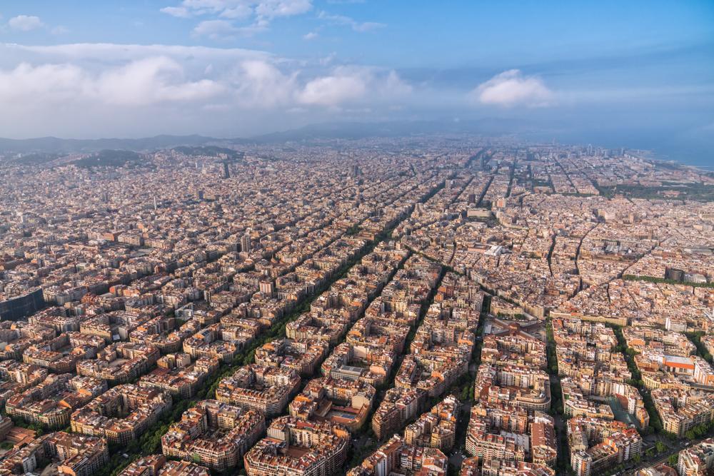 Vue aérienne de Barcelone en Espagne
