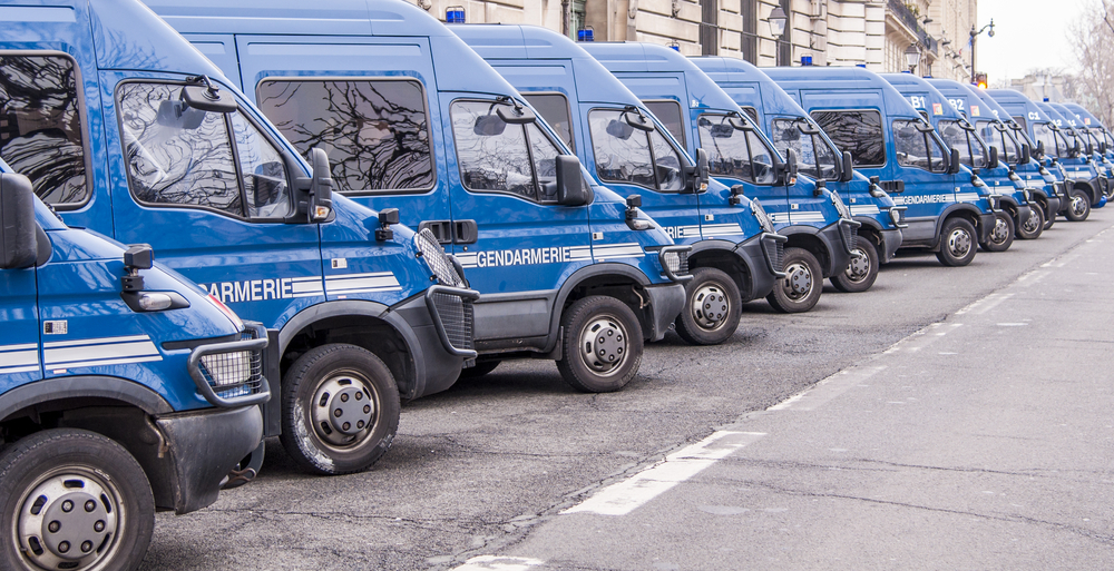 Camions de gendarmerie en France